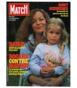 Paris Match Magazine N°1692 - Vintage October 30, 1981 issue with Romy Schneider