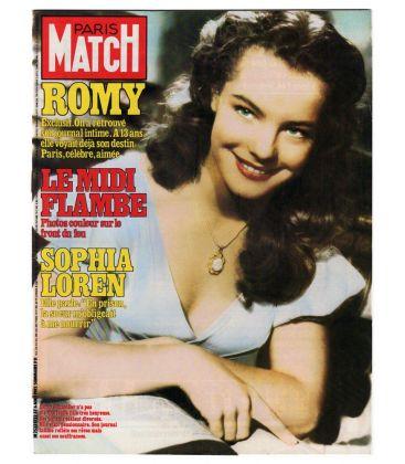 Paris Match Magazine N°1732 - Vintage August 6, 1982 issue with Romy Schneider