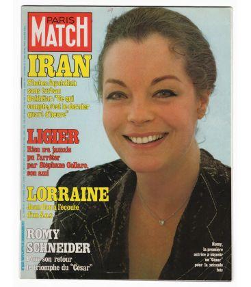 Paris Match N°1551 - 16 février 1979 - Ancien magazine français avec Romy Schneider