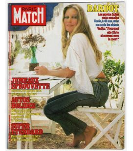 Paris Match Magazine N°1795 - Vintage October 21, 1983 issue with Brigitte Bardot