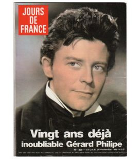 Jours de France Magazine N°1299 - Vintage november 24, 1979 issue with Gérard Philipe