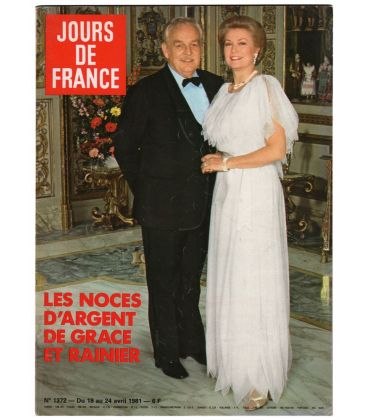 Jours de France Magazine N°1372 - Vintage april 18, 1981 issue with Grace Kelly