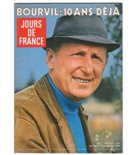 Jours de France Magazine N°1341 - Vintage september 13, 1980 issue with Bourvil