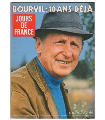 Jours de France N°1341 - 13 septembre 1980 - Ancien magazine français avec Bourvil