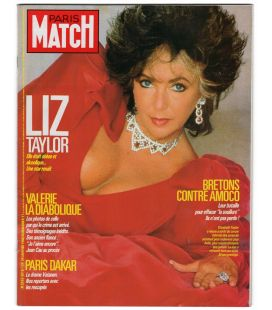 Paris Match Magazine N°2018 - January 29, 1988 issue with Elizabeth Taylor