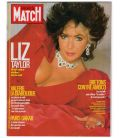 Paris Match Magazine N°2018 - January 29, 1988 issue with Elizabeth Taylor