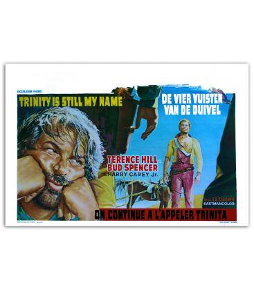 "On continue à l'appeler Trinita - 22"" x 14"" - Ancienne affiche originale belge"