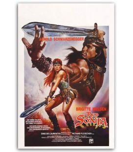 "Red Sonja - 14 "" x 22"" - Original Belgian Poster"