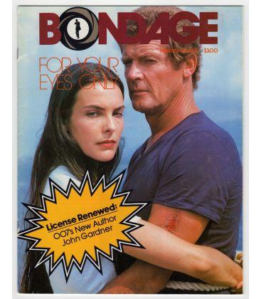 Bondage N°11 - 1982 - Ancien magazine américain avec Carole Bouquet et Roger Moore