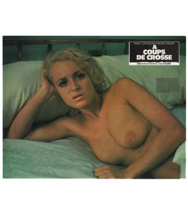 A coups de crosse - Vintage Original French Lobby Card with Fanny Cottençon