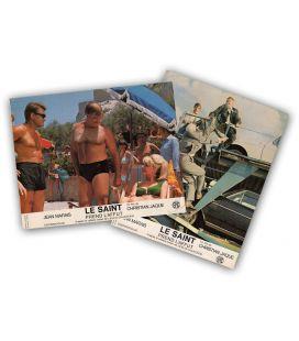 Le saint prend l'affût - Lot de 2 anciennes photos originales avec Jean Marais