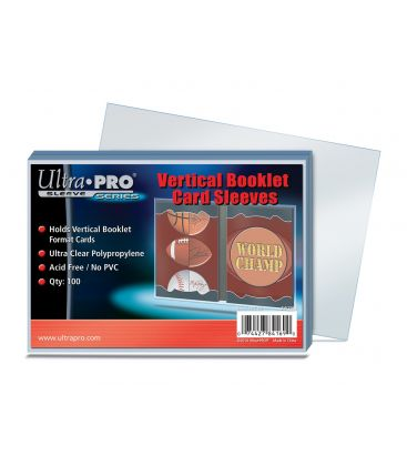 Vertical Booklet Card Sleeves - Ultra Pro - Pack of 100