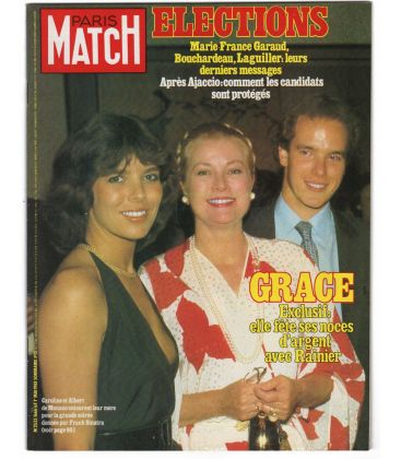 Paris Match Magazine N°1666 - Vintage may 1, 1981 issue with Grace Kelly