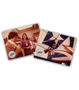Captain America - Lot of 2 Vintage Original French Lobby Cards