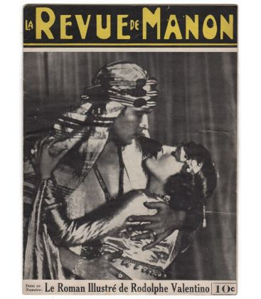 La revue de Manon - Vintage october 1, 1926 issue with Rudolph Valentino