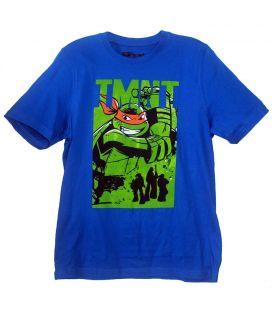 Les Tortues Ninja - T-Shirt pour garçon avec Michelangelo