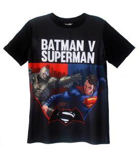 Batman v Superman - T-Shirt noir pour garçon