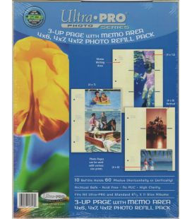 Pages pour 3 photos - Paquet de 10 - Ultra-Pro