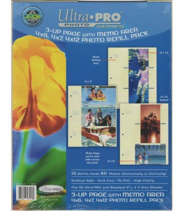 3-up Page Photo Refill - Pack of 10 - Ultra-Pro