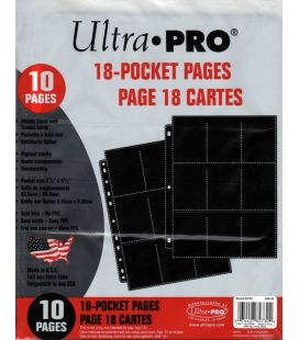 Pages pour 18 cartes de collection - Ultra-Pro - Paquet de 10