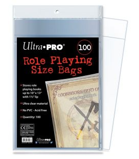 "Sacs en plastique 10"" x 13"" pour magazine - Paquet de 100 - Ultra-Pro Role Playing"