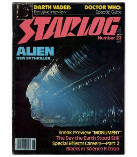 Starlog Magazine N°23 - Vintage June 1979 issue with Alien