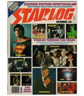 Starlog N°24 - Juillet 1979 - Ancien magazine américain avec Superman et Star Wars