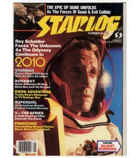 Starlog N°90 - Janvier 1985 - Ancien magazine américain avec Roy Scheider