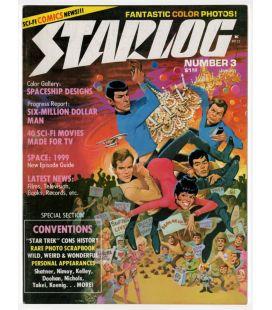 Starlog N°3 - Janvier 1977 - Ancien magazine américain avec Star Trek
