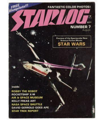 Starlog N°7 - Août 1977 - Ancien magazine américain avec Star Wars