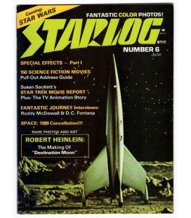 Starlog N°6 - Juin 1977 - Ancien magazine américain avec Destination lune