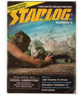 Starlog N°8 - Septembre 1977 - Ancien magazine américain avec Land of the Lost
