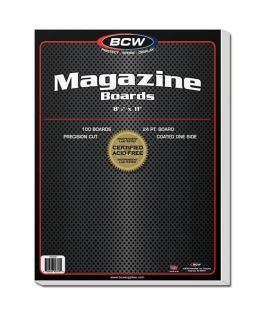"Pack of 100 cardboards 8.5"" x 11"" for magazine - BCW"