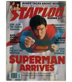 Starlog Magazine N°20 - Vintage March 1979 issue with Superman