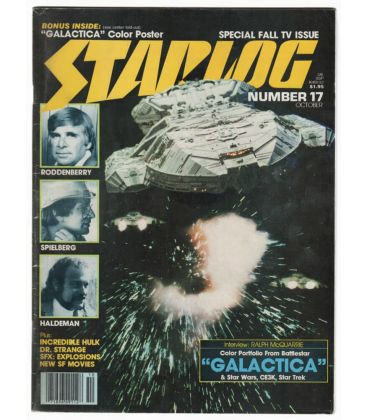 Starlog N°17 - Octobre 1978 - Ancien magazine américain avec Battlestar Galactica