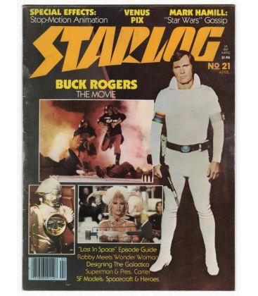 Starlog N°21 - Avril 1979 - Ancien magazine américain avec Buck Rogers