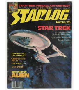 Starlog N°25 - Août 1979 - Ancien magazine américain avec Star Trek