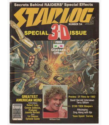 Starlog Magazine N°54 - Vintage January 1982 issue with William Katt