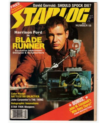Starlog Magazine N°58 - Vintage May 1982 issue with Harrison Ford