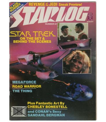 Starlog Magazine N°61 - Vintage August 1982 issue with Star Trek 2