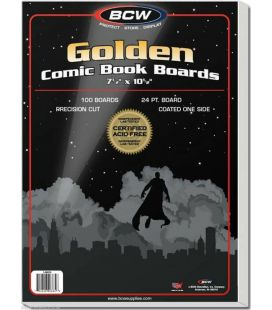 "Paquet de 100 cartons 7.5"" x 10.5"" pour comic Golden - BCW"