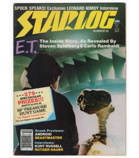 Starlog Magazine N°63 - Vintage October 1982 issue with Steven Spielberg's E.T.