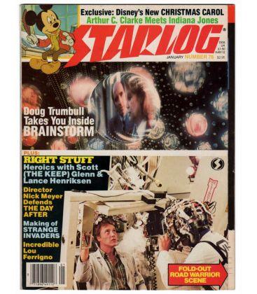 Starlog N°78 - Janvier 1984 - Ancien magazine américain avec Christopher Walken