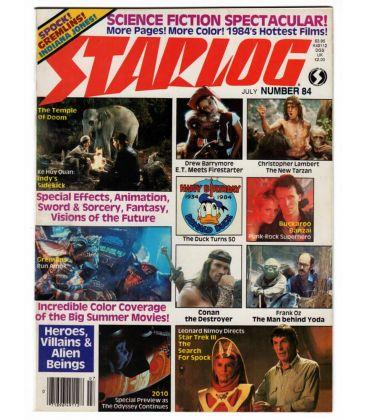 Starlog N°84 - Juillet 1984 - Ancien magazine américain avec Gremlins