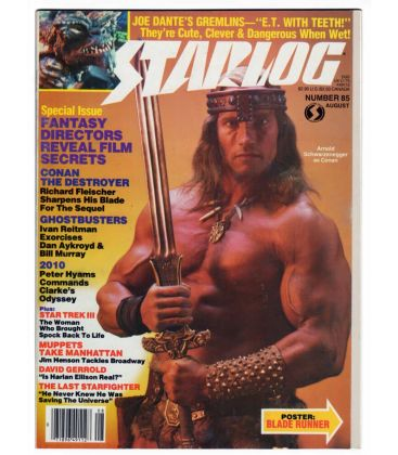 Starlog Magazine N°85 - Vintage August 1984 issue with Arnold Schwarzenegger
