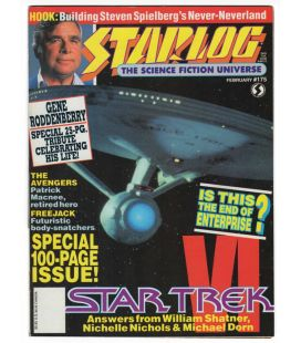 Starlog N°175 - Février 1992 - Magazine américain avec Star Trek