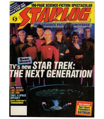 Starlog Magazine N°124 - November 1987 issue with Star Trek The Next Generation