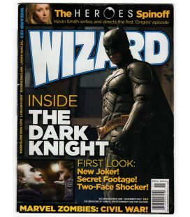 Wizard N°193 - Novembre 2007 - Magazine américain avec Batman The Dark Knight