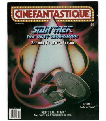 Cinefantastique - Octobre 1991 - Magazine américain avec Star Trek The Next Generation
