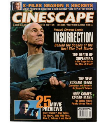 Cinescape - Novembre 1998 - Magazine américain avec Star Trek Insurrection